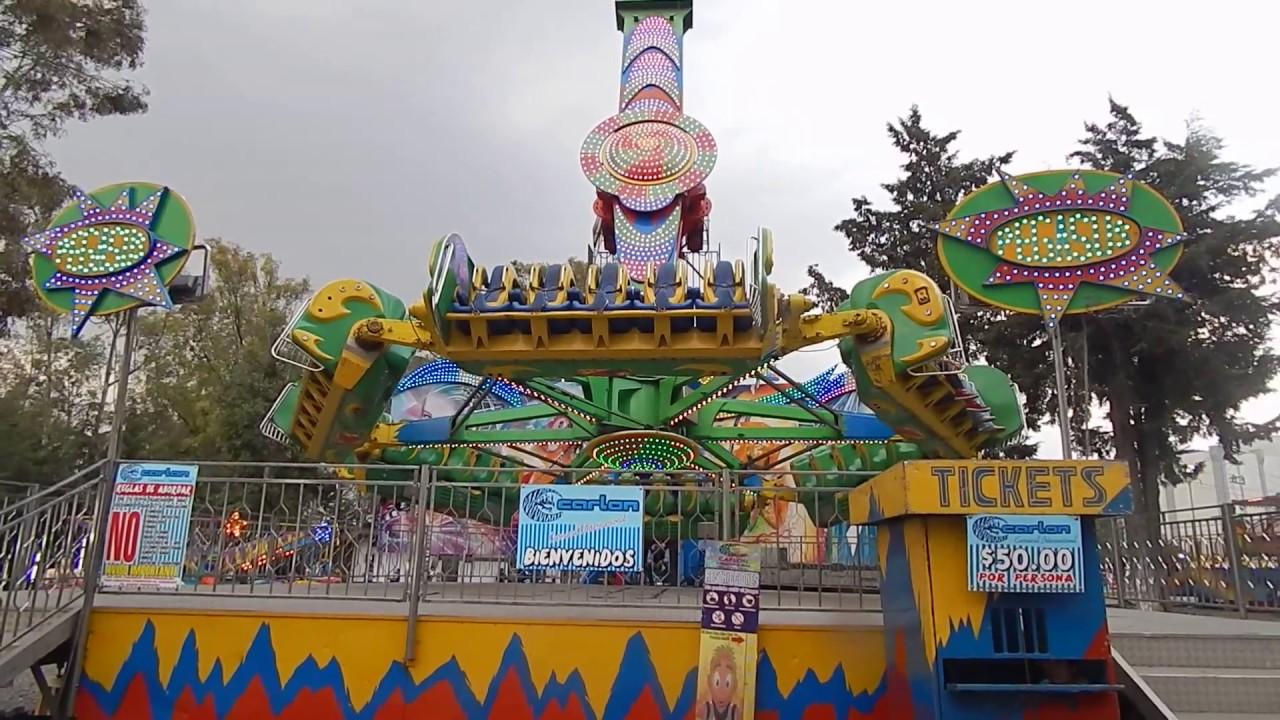 El Pegasus En La Feria De Puebla 2017 Juegos Mecanicos Youtube