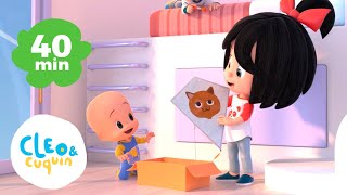 Cat song and more lullaby for kids - Cleo and Cuquin nursery rhymes | Familia Telerin thumbnail