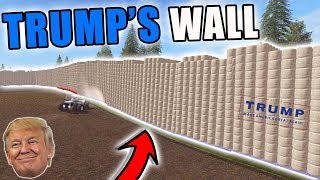 BUILDING TRUMPS WALL OUT OF BALES   FARMING SIMULATOR 2017