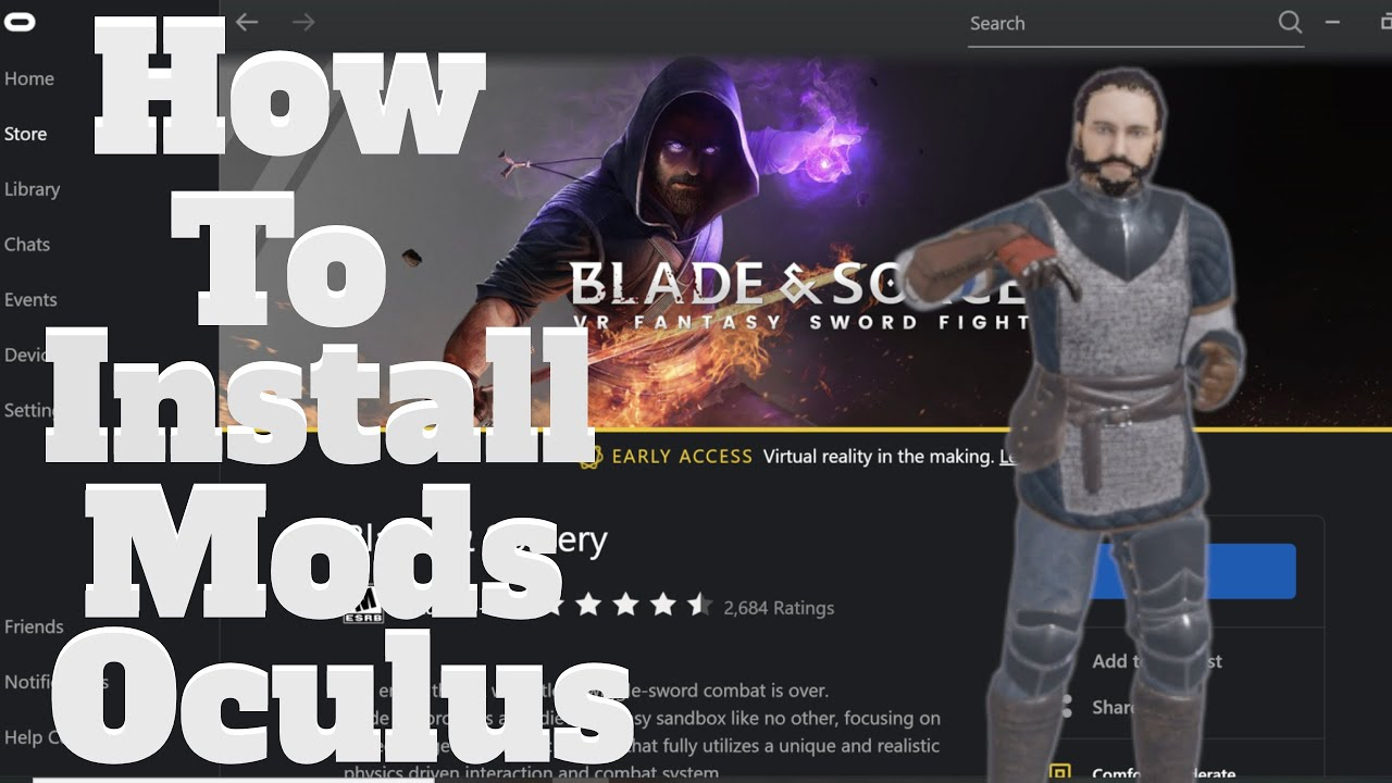 HOW to INSTALL mods in OCULUS for Blade and Sorcery Tutorial
