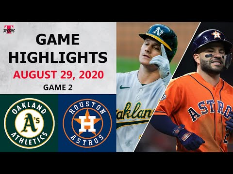 Oakland Athletics vs. Houston Astros Game 2 Highlights | August 29, 2020 (Montas vs. Grienke) |