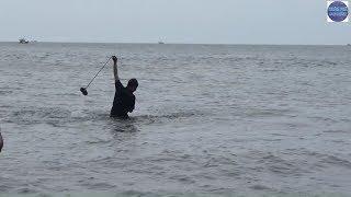 Giăng lưới ở  Hòn Đầm Giếng thú vị/fishing