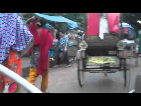 Bicycle commuting in Dhaka ( Motabil Plaza-Central Road-Green Road-Dhanmondi-7 )