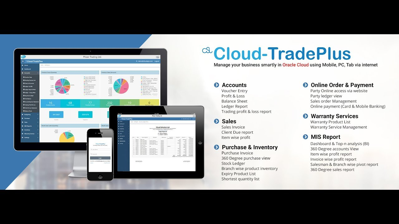 TradePlus - Trade Business Management Software on oracle cloud environment  as SaaS product