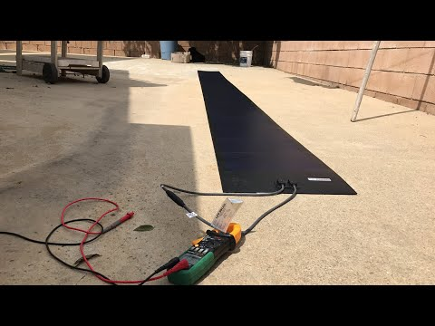 First look at my 136w  flexible solar panel
