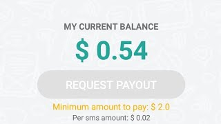 sign up now free 0.54$ earn money with sms proift