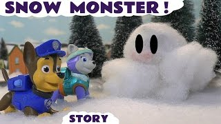 paw patrol stop motion play doh snow monster episode with thomas and friends fun toy story tt4u