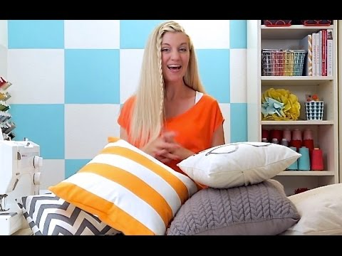 how to sew a pillow 2 ways basic pillow and pillow sham youtube. Black Bedroom Furniture Sets. Home Design Ideas