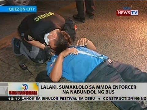 BT: Lalaki, sumaklolo sa MMDA enforcer na nabundol ng bus