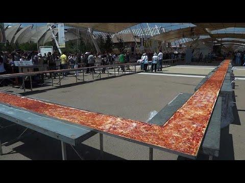 L\'Italie bat le record de la plus longue pizza du monde: 1,5 km ...