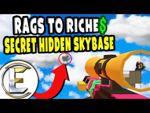 SECRET HIDDEN SKYBASE | Unturned Roleplay Rags to Riches Reboot #14 - Rebels Main Base (RP)