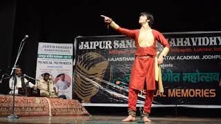 Indian kathak  classical dance performance