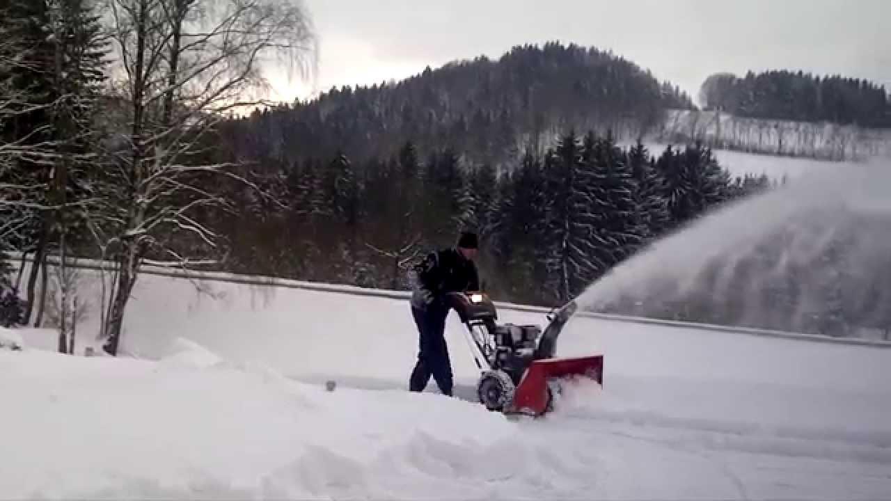 schneefräsen 2015 mit der canadiana schneefräse - youtube