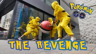 THE REVENGE Pokémon Go – PRANK! (original)(Now it's the Pokémon's turn! Watch the Pikachus hunting down the Trainers with Monster-Pokéballs. http://www.basel.com/pokemon Jetzt sind die Pokémon an ..., 2016-08-03T09:30:32.000Z)