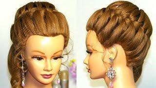 Прическа для средних волос: