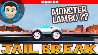 Roblox Jailbreak Update adds Monster Trucks! And I get a Level 5 Lambo in Roblox Jail Break