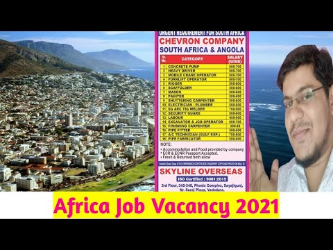 Africa job Vacancy! Africa Job requirements 2021! Nigeria Job Vacancy! Africa country job for Indian