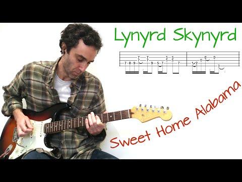 Lynyrd Skynyrd - Sweet Home Alabama - Guitar lesson / tutorial / cover with tab