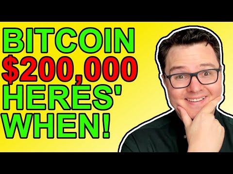 Here's When Bitcoin Will Hit $200,000! (Prediction)
