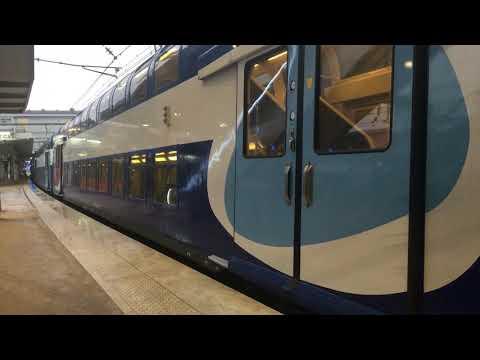 Départ de la VB2N Et BB 27300 de Versailles Chantiers pour Paris Montparnasse