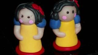 Disney Princess inspired Chibi dolls... Polymer Clay dolls Cinderella, Ariel, Belle....