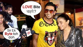 Ranveer Singh's DISGUSTING Comment To Lady Reporter In Front Of Alia Bhatt At Gully WRAP UP PARTY