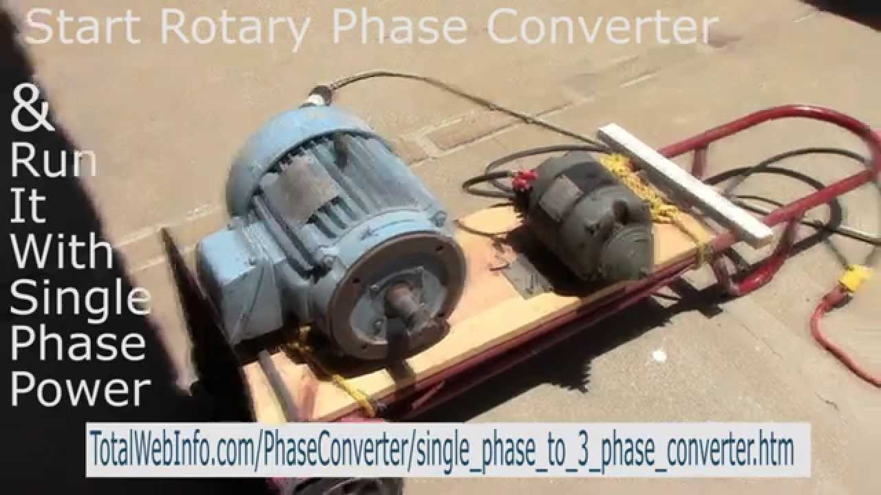 hight resolution of single phase to 3 phase rotary phase converter