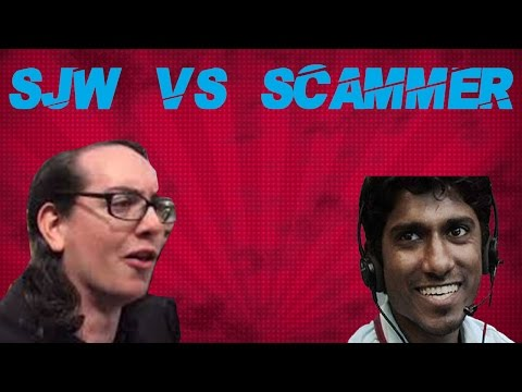 Tech Support Scammer vs SJW/Feminist #2 (Scammer Gets Mad!)