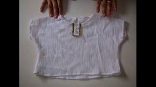 DIY: Blusa com manga simples – molde de 1 a 6 anos