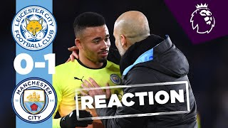 JESUS REACTS AND LOOKS AHEAD TO REAL MADRID | LEICESTER 0-1 MAN CITY