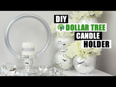 DOLLAR TREE DIY GLAM CANDLE HOLDER | DIY Glam Home Decor Idea