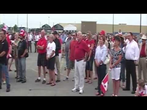 Large Flag raising in Brockville - by Dale Elliott EON News