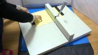 "18/"" 460mm Scoring Paper Creasing Machine Manual A3 Paper Desktop Press"