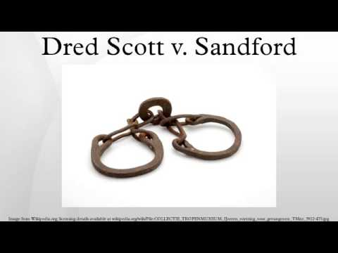 the scott vs sandford case Dred scott vs sandford was an important court case held in 1857 where the united states supreme court ruled that african americans (it didn't matter whether they were slaves or free people) weren.