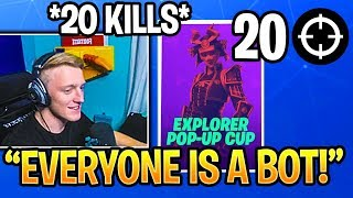 *INSANE* Tfue Drops 20 Kills In The Pop Up Cup Solo Event! Fortnite Highlights