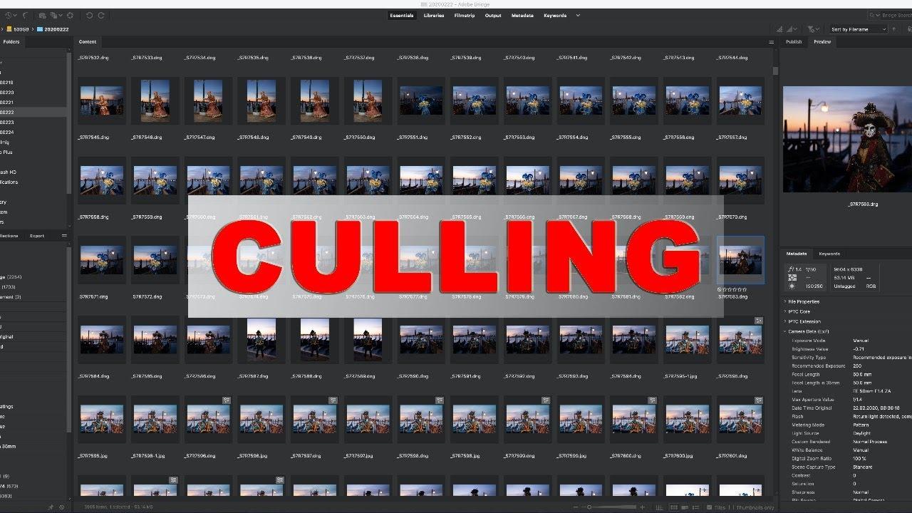 Erhan Meço ile Canlı Yayında Culling (Toplu Fotoğraf Eleme, Seçme ve İşleme) - 2020.05.02