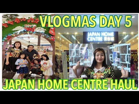 VLOGMAS DAY 5| 1k JAPAN HOME CENTRE HAUL TIPID SULIT | BAGONG REBOND ANG HAIR
