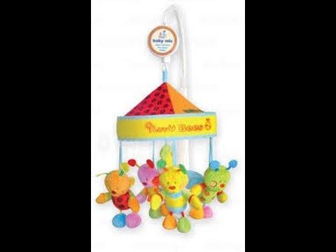 Мобиль музыкальный, Baby Mix - Карусель на кроватку мягкая игрушка 781мс.