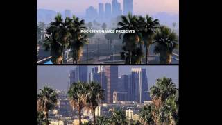 GTA V - Grand Theft Auto V trailer vs Real Life