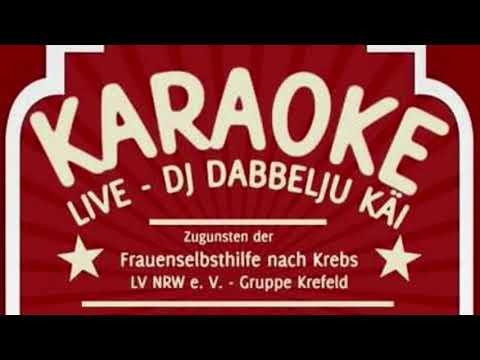 FSH nach Krebs Gruppe Krefeld beim Karaoke mit DJ Dabbelju Kai