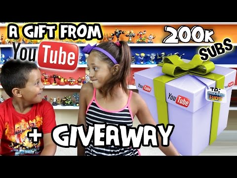 Thumbnail: A Gift from YouTube? + 200k Subscribers Giveaway (Skylander Boy & Girl Contest) Silver Play Button