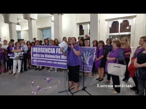 """VÍDEO: Lucena se sumó a las concentraciones celebradas en todo el país por la """"emergencia feminista"""""""