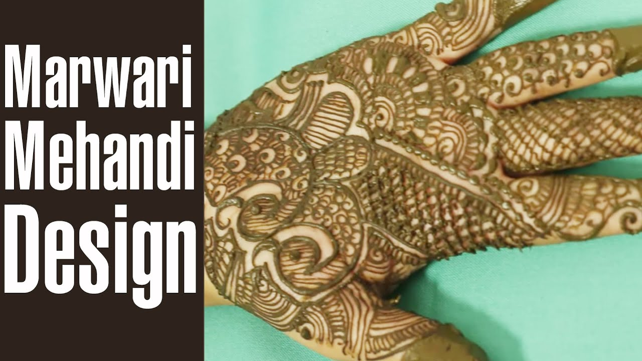 Mehndi Patterns What Are They : Splendid marwari mehndi designs to glam up your hands youtube