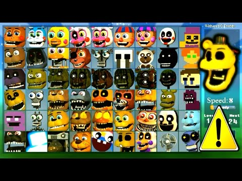 Super FNaF WORLD All 54 Characters Unlocked (All Animatronics)