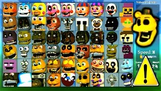 - Super FNaF WORLD All 54 Characters Unlocked All Animatronics