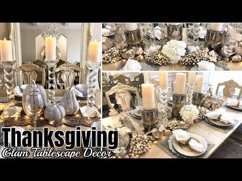 Glam Thanksgiving Tablescape Decor! | Styling Decor Ideas!