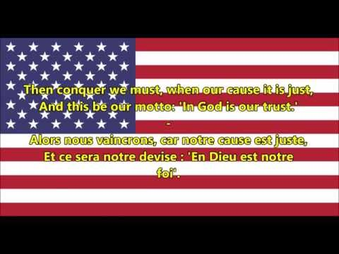 Hymne national des ÉtatsUnis  National Anthem of USA ENFR Paroles