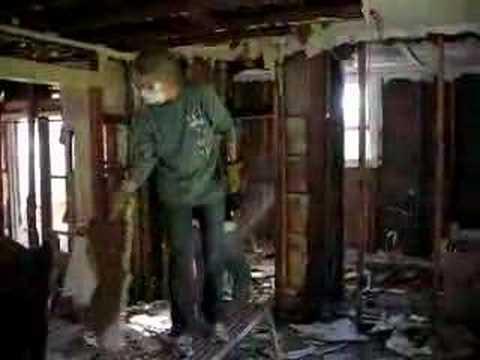 Gutting a hurricane house
