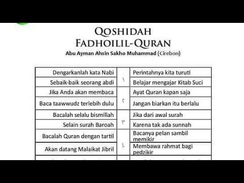 Qosidah Fadhilah Al-Quran