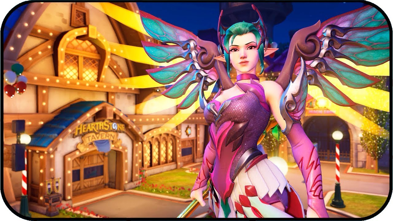 Overwatch Mercy Sugar Plum Fairy Animated Wallpaper 4k